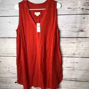 Maeve Anthropologie Large Burnt Orange Tunic New